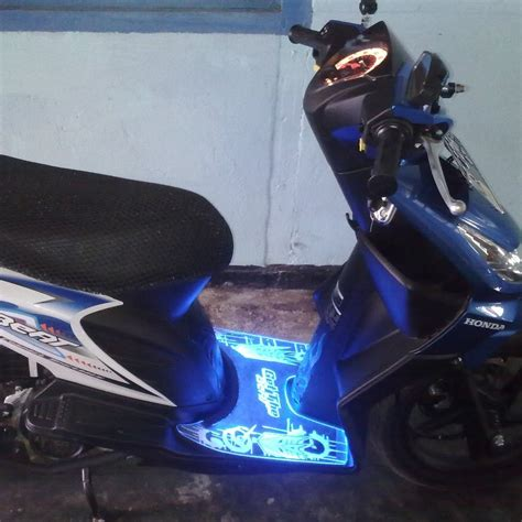 Lu Led Honda Beat bordes akrilik led du2ng aksesoris motor distributor