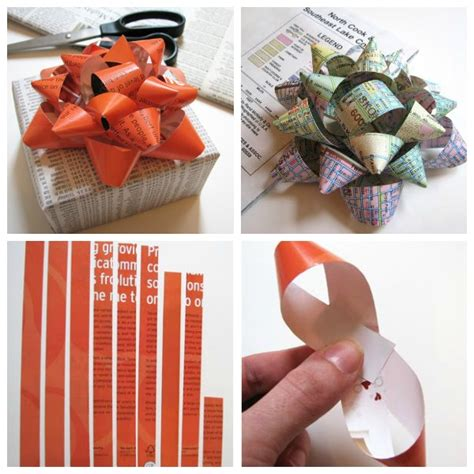 How To Make Bows Out Of Wrapping Paper - make diy gift bows from scrap paper