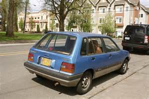 parked cars 1987 chevrolet sprint 5 door hatchback