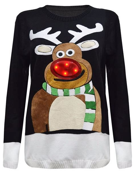 New Mens Ladies Unisex Xmas Tree Led Light Up Jumper Light Up Jumpers For