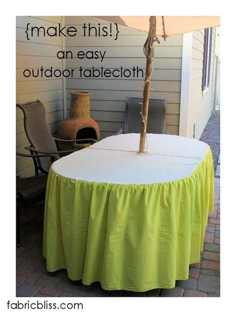 8 best how to make umbrella holes in tablecloths images on