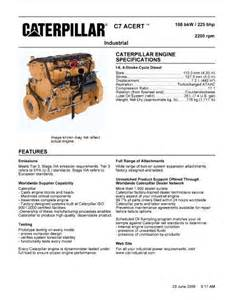 c7 caterpillar engine spec sheet c7 free engine image