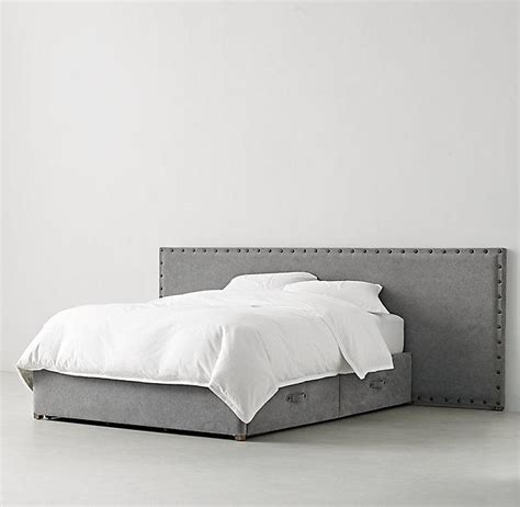 large upholstered headboard axel upholstered wide storage bed