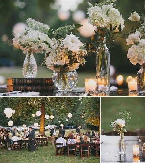 backyard wedding centerpieces beautiful diy backyard wedding backyard weddings
