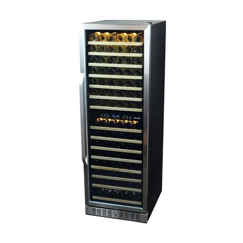 newair 160 bottle dual zone built in wine cooler awr