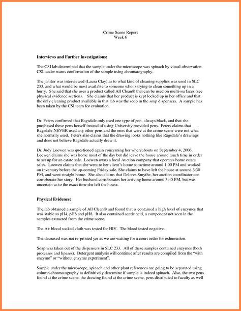 criminal investigation report template 7 crime investigation report template progress report