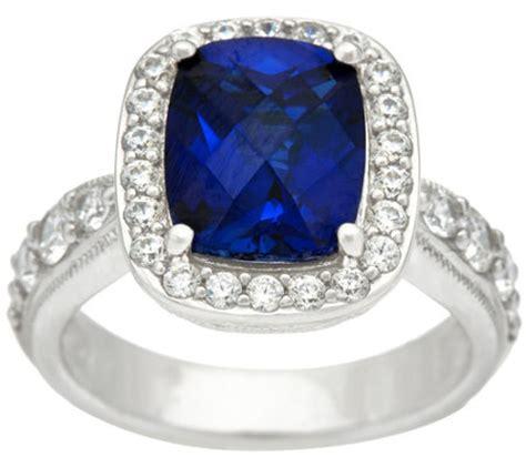 diamonique emerald cut simulated gemstone ring platinum