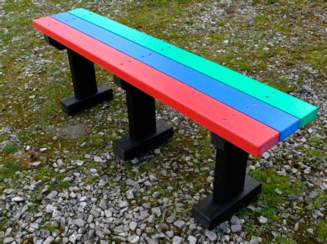 school benches outdoor multicoloured tees bench garden park no back