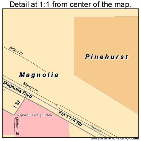 map of magnolia texas magnolia texas map 4846056