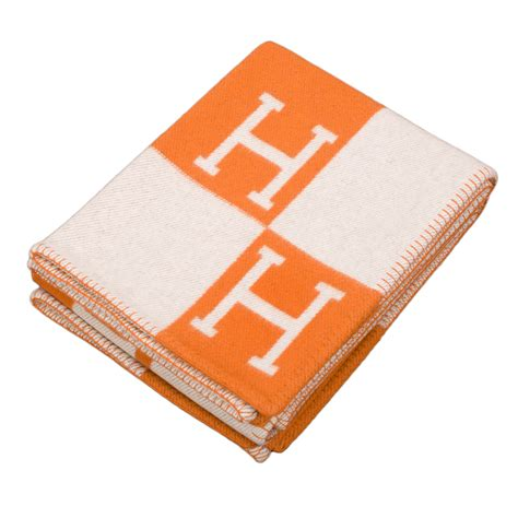 the hermes avalon blanket hermes quot avalon quot ecru and pumpkin signature h blanket