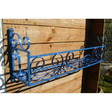 wrought iron window box planters window box trough holder 46in length