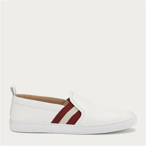 bally sneakers womens bally henrika s leather slip on trainer in white in