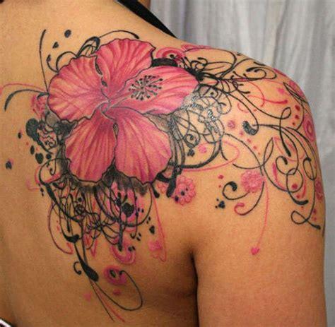 hibiscus tattoo on shoulder 26 sublime flower shoulder tattoos and designs