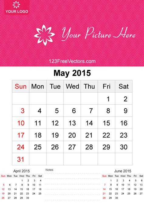may 2015 calendar template vector free download free