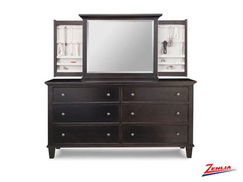 long bedroom dresser george 6 deep drawer long dresser jewelery mirror