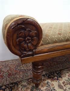 scottish william iv carved oak window seat antiques atlas