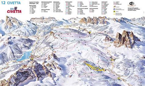 3d Planner Online ski map of civetta dolomiti superski