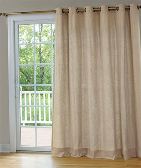 patio door curtain rod window treatments design ideas