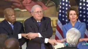trump kumbaya democratic and republican leaders have awkward kumbaya