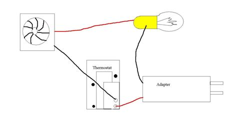 incubator wiring diagram thermostat and light bulb diagram