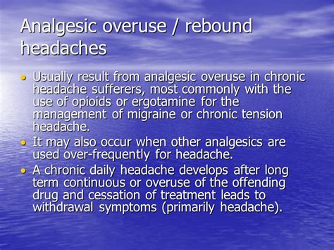 Migraine Rebound Detox by Headache Pike Ppt