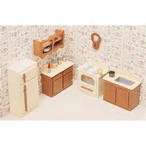 kitchen dollhouse furniture greenleaf kitchen furniture kit set 1 inch scale collector dollhouse accessories at hayneedle