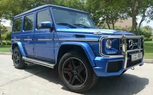 Car Rental Dubai G Class Rent Mercedes G63 Blue Dubai Uae