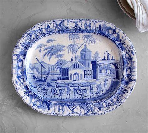 Constantinople Ceramic Transferware Tray   Pottery Barn
