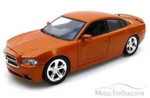 dodge charger copper orange motormax 73354 1 24 scale