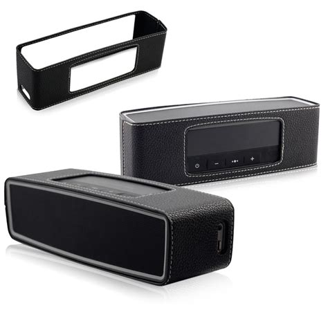 Casing Mini 2 leather black box bag cover for bose soundlink mini 2