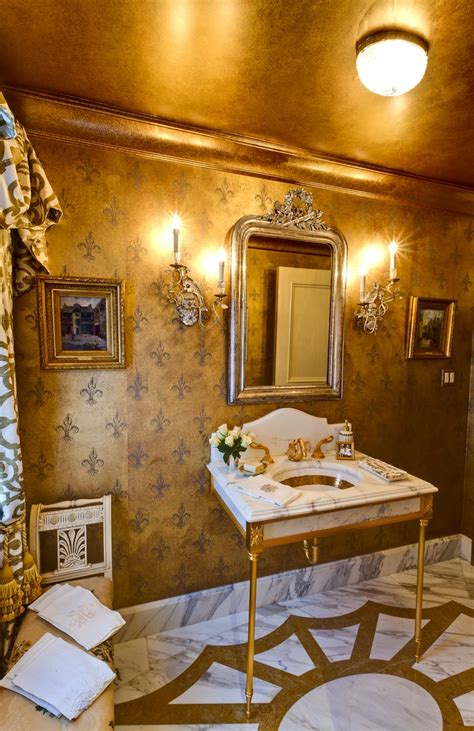 Unique Bathroom Flooring Ideas by All That Glitters Is Gold 10 Drop Dead Gold Bathrooms