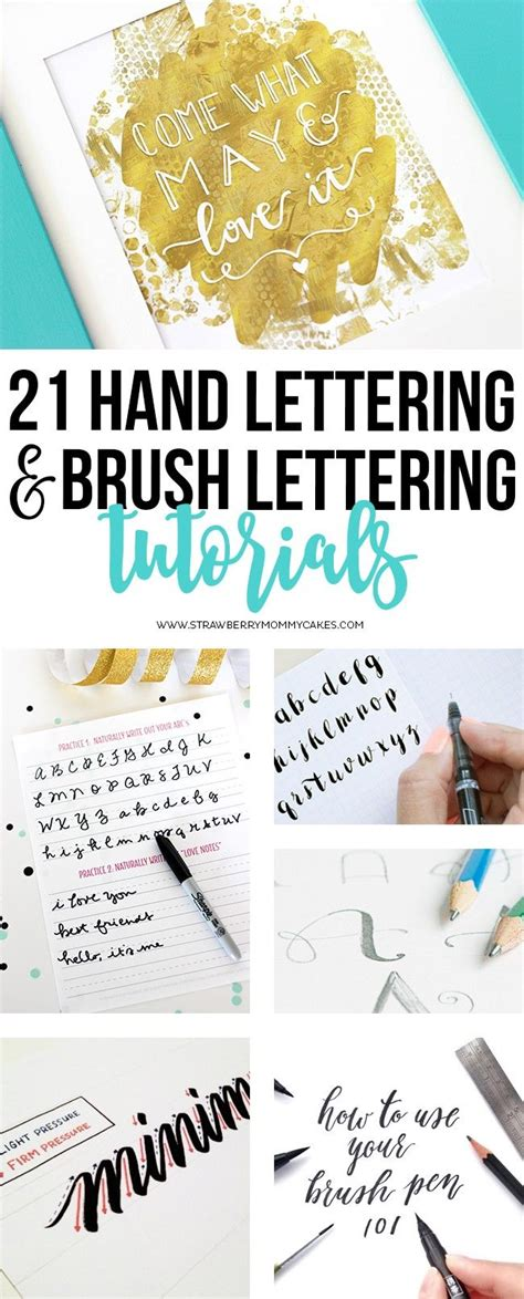 tutorial membuat hand lettering 21 hand lettering and brush lettering tutorials