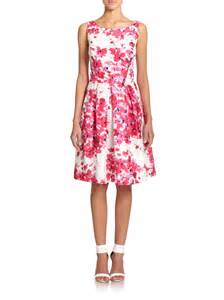 print dress unger duiponi floral print dress in pink lyst