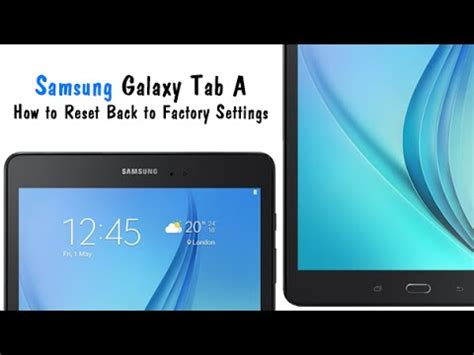 samsung galaxy tab a how to reset back to factory