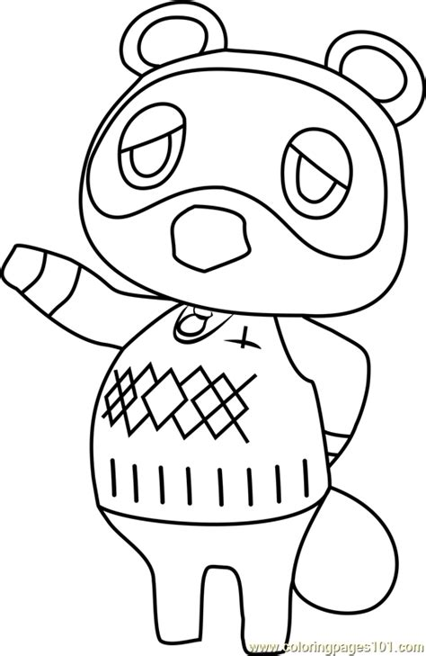 coloring pages of animal crossing new leaf tom nook animal crossing coloring page free animal