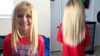 how to grow out boys hair florida boy grows out hair to donate to child in need
