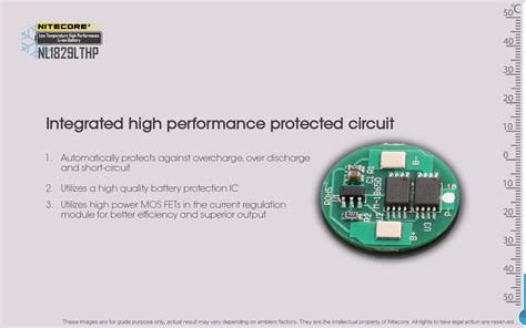 Nitecore 18650 Baterai Li Ion Low Temp High Perform 2900mah Nl1829lthp nitecore 18650 baterai li ion low temperature high performance 2900mah 3 6v nl1829lthp black