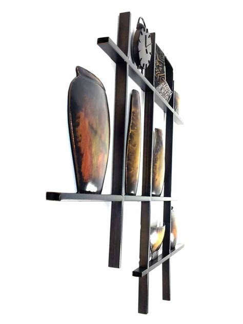 Metal Wall Vases by Metal Wall Shelves Bowls And Vase