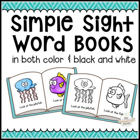 the focused beginnings books free printable sight word books my