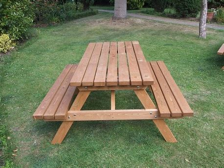 garden picnic benches wooden a frame picnic bench 4 seater e timber products