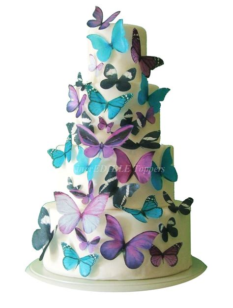 Edible Cake Decorations - edible butterflies for cakes and cupcakes cake decorations