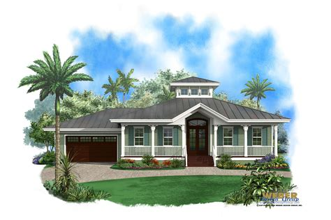 Olde Florida House Plan Ambergris Cay House Plan Weber Design Group