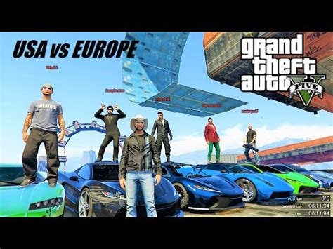 gta 5 : race battle usa vs europe live with the best