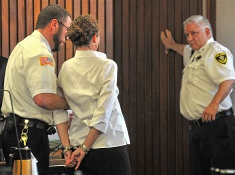 Handcuffed On Way To Court by Cara Rintala Guilty Of Degree Murder