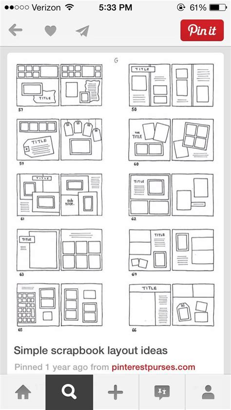 c how to achieve this simple page layout using 631 best scrapbooking sketches images on