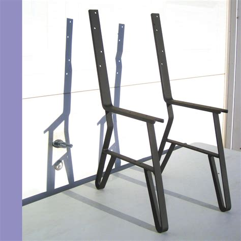 a frame bench logan s order 9 single park bench flat iron metal legs