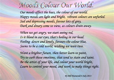 moods colour  world  types  poetry