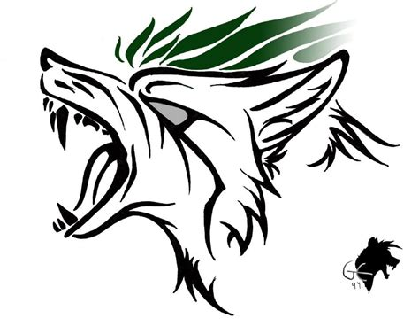 tribal wolf head tattoo designs cool tribal wolf drawings www pixshark images