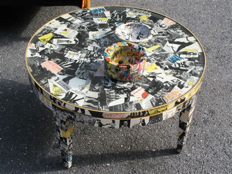 Table Decoupage - decoupage ideas for furniture easy crafts and