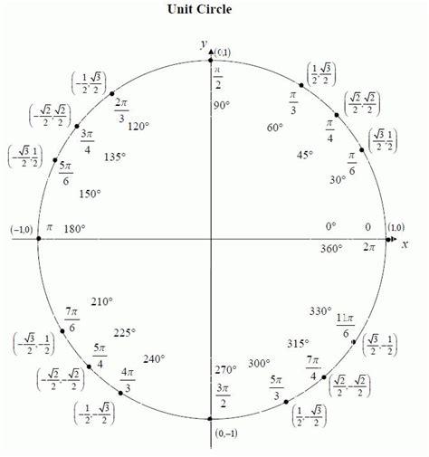 Unit Circle Worksheet by Trigonometry Unit Circle Worksheet Worksheets